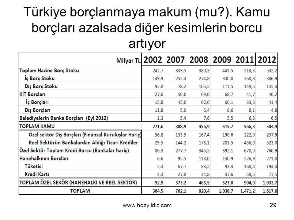 Türkiye borçlanmaya makum (mu?).