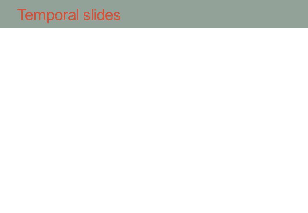 Temporal slides