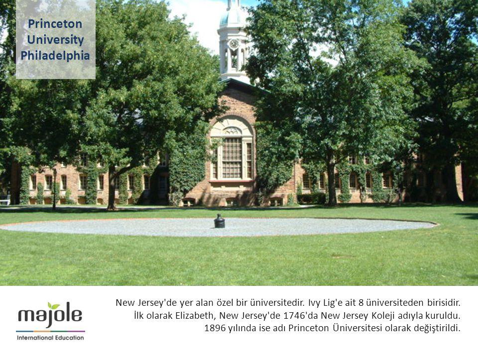 AMERİKA - KANADA ÜNİVERSİTE TANITIM PROGRAMI New Jersey'de yer alan özel bir üniversitedir. Ivy Lig'e ait 8 üniversiteden birisidir. İlk olarak Elizab