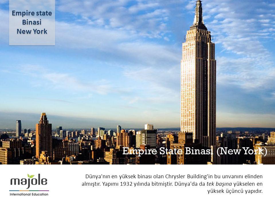 Empire State Binası (New York) 2- 10 Aralık 2012 Dünya'nın en yüksek binası olan Chrysler Building'in bu unvanını elinden almıştır. Yapımı 1932 yılınd