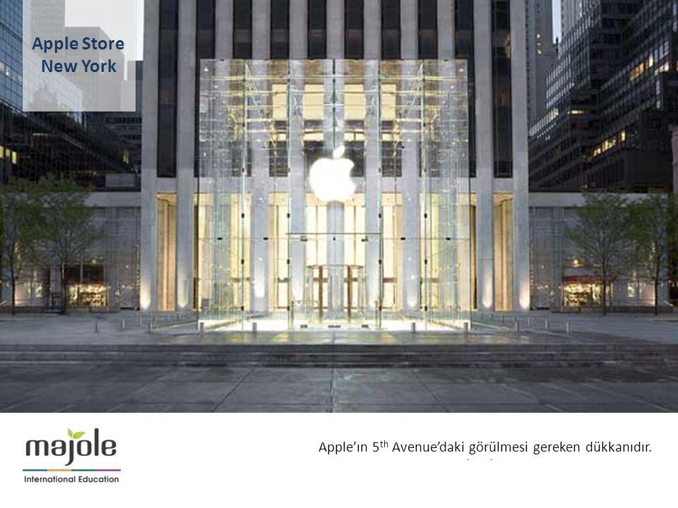 BİRLEŞMİŞ MİLLETLER GENEL MERKEZİNDE EĞİTİM SEMİNERİ Apple'ın 5 th Avenue'daki görülmesi gereken dükkanıdır. Apple Store New York