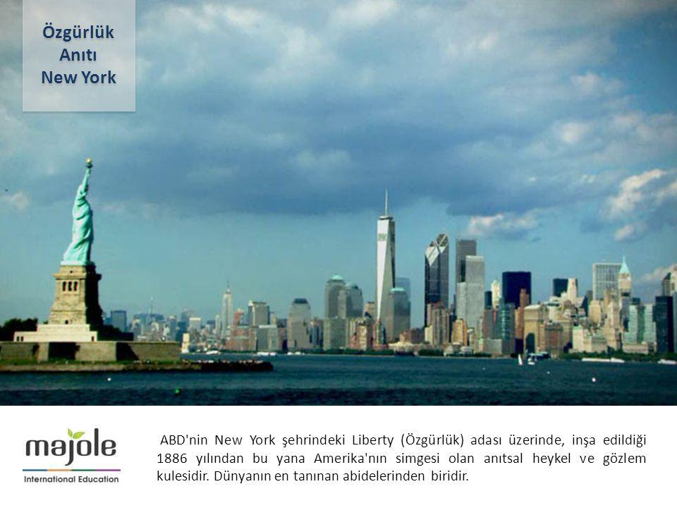 2- 10 Aralık 2012 ABD nin New York şehrindeki Liberty (Özgürlük) adası üzerinde, inşa edildiği 1886 yılından bu yana Amerika nın simgesi olan anıtsal heykel ve gözlem kulesidir.