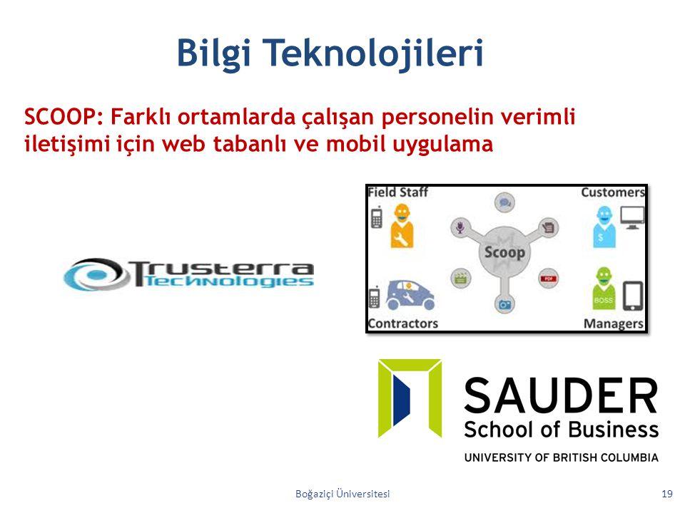 Boğaziçi Üniversitesi19 Bilgi Teknolojileri SCOOP: Farklı ortamlarda çalışan personelin verimli iletişimi için web tabanlı ve mobil uygulama