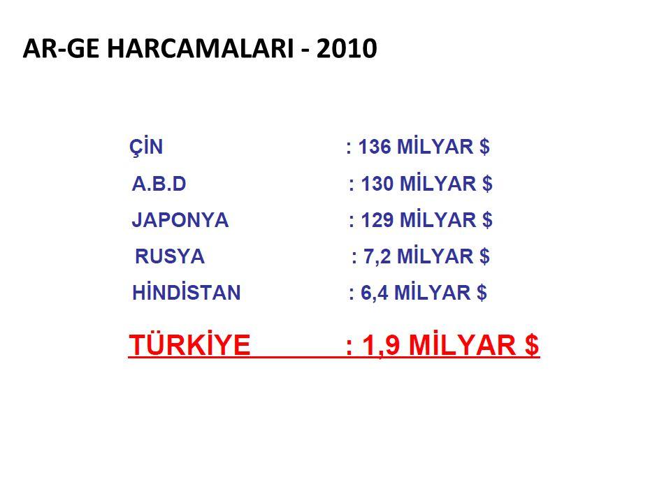 AR-GE HARCAMALARI - 2010