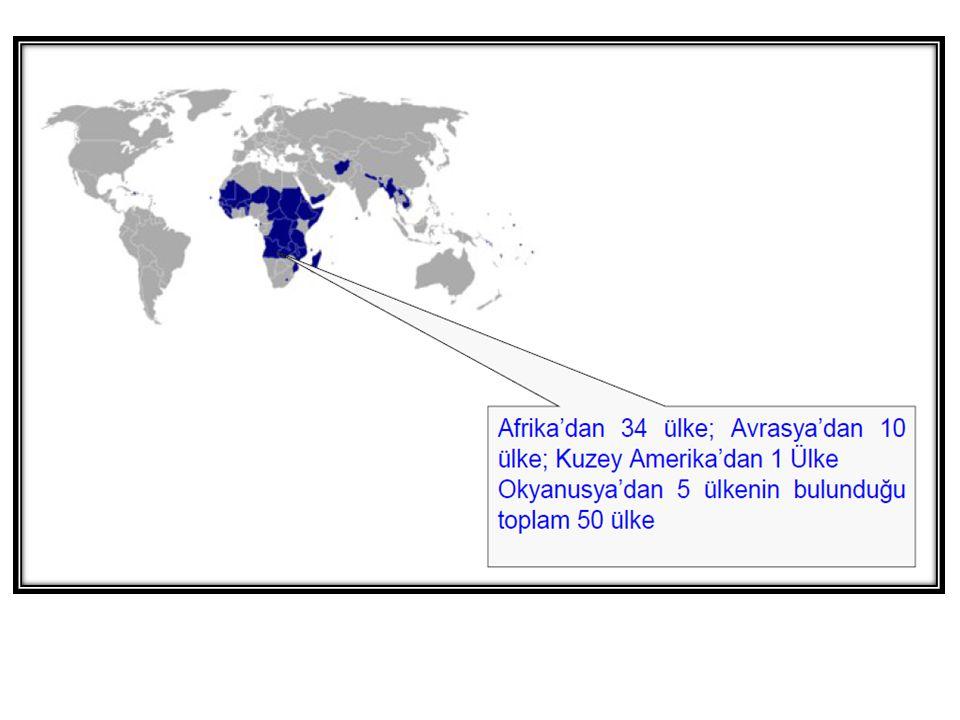 Birleşmiş Milletlere Üye 192 Ülke G-8'ler ABD Japonya İngiltere Fransa Almanya Kanada İtalya Rusya