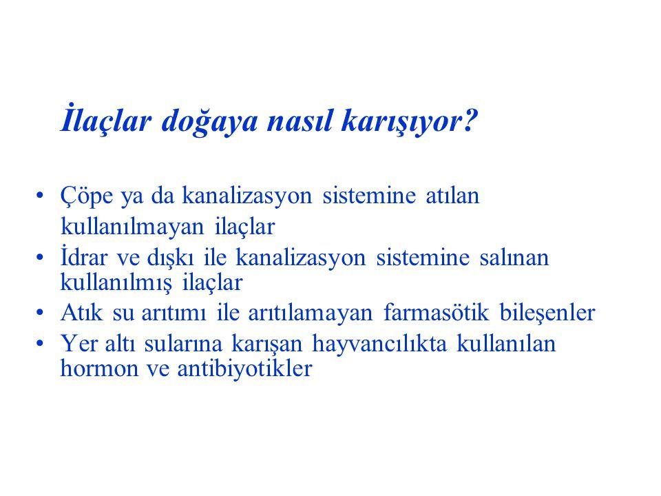 Türkiye de ilk kez bir atık ilaç toplama sistemi uygulanacak.