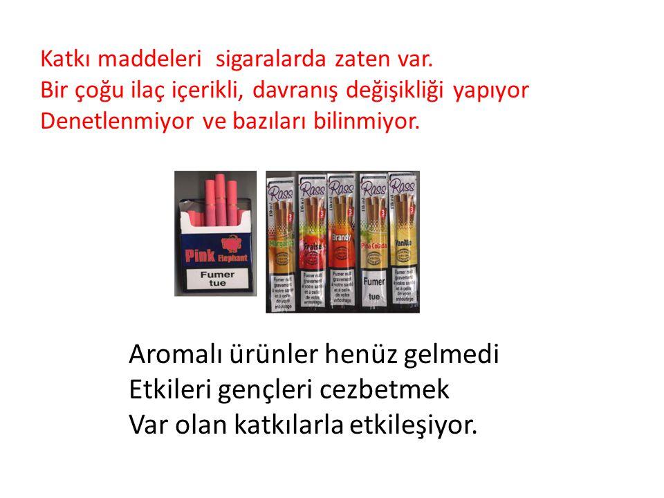 Katkı maddeleri sigaralarda zaten var.