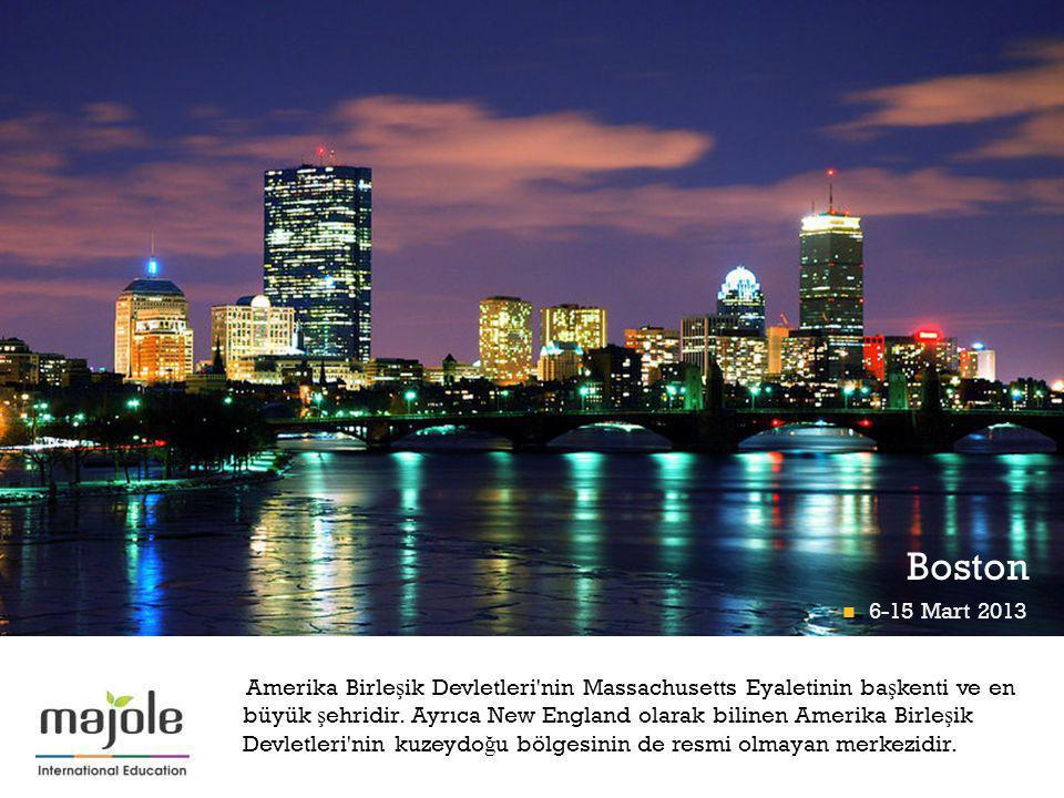 + Boston Amerika Birle ş ik Devletleri nin Massachusetts Eyaletinin ba ş kenti ve en büyük ş ehridir.