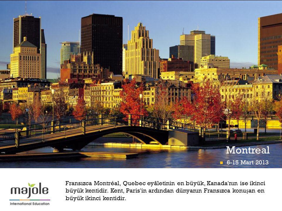 + Montreal Fransızca Montréal, Quebec eyâletinin en büyük, Kanada'nın ise ikinci büyük kentidir. Kent, Paris'in ardından dünyanın Fransızca konu ş an