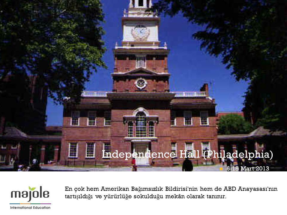 + Independence Hall (Philadelphia) En çok hem Amerikan Ba ğ ımsızlık Bildirisi'nin hem de ABD Anayasası'nın tartı ş ıldı ğ ı ve yürürlü ğ e sokuldu ğ