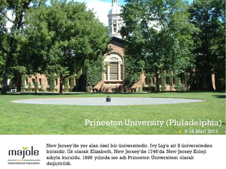 + New Jersey'de yer alan özel bir üniversitedir. Ivy Lig'e ait 8 üniversiteden birisidir. İ lk olarak Elizabeth, New Jersey'de 1746'da New Jersey Kole