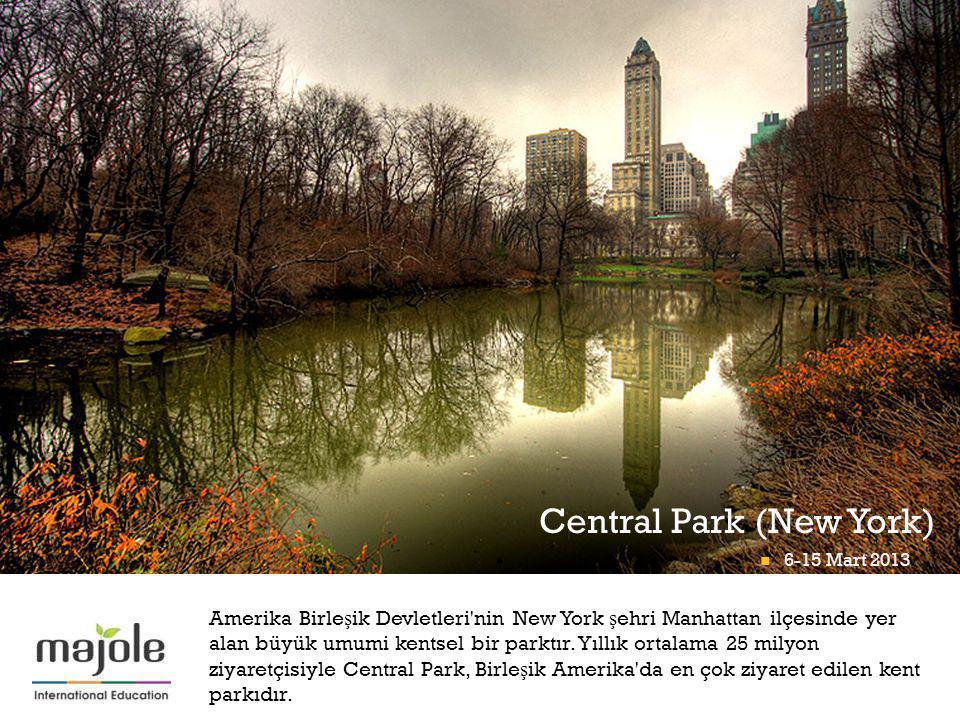 + Amerika Birle ş ik Devletleri'nin New York ş ehri Manhattan ilçesinde yer alan büyük umumi kentsel bir parktır. Yıllık ortalama 25 milyon ziyaretçis