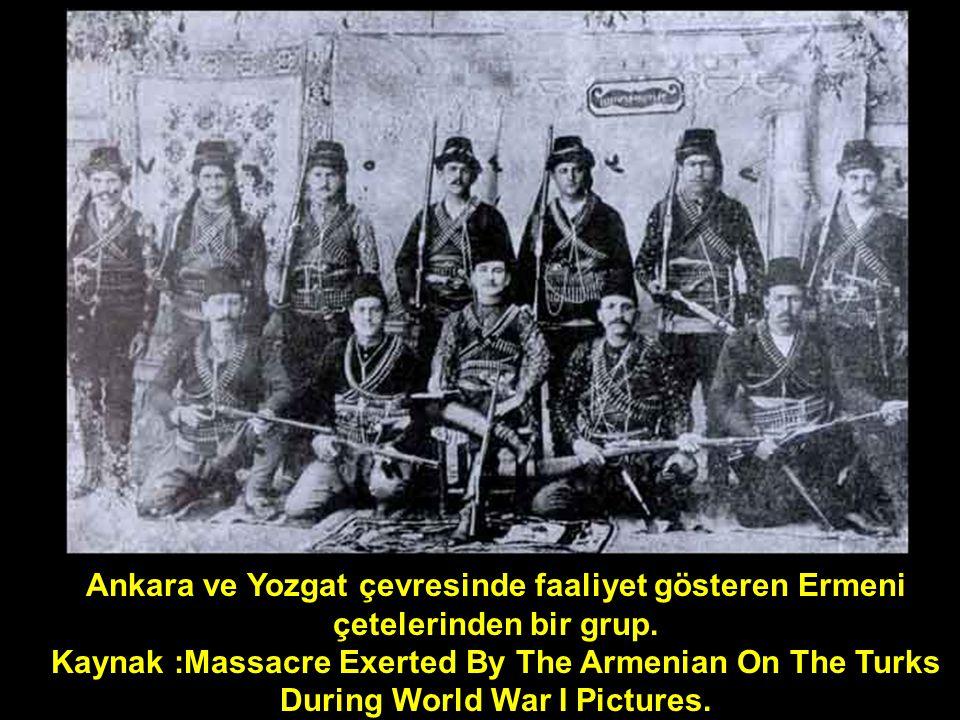Ankara ve Yozgat çevresinde faaliyet gösteren Ermeni çetelerinden bir grup. Kaynak :Massacre Exerted By The Armenian On The Turks During World War I P