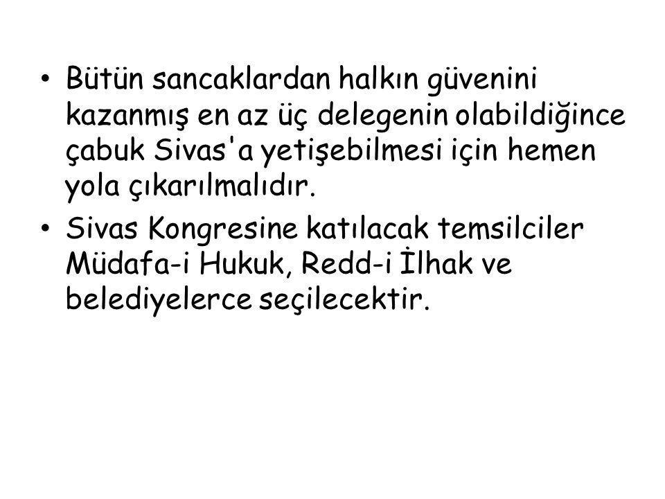 Amasya Genelgesi'nin yayınlanması İstanbul'daki işgalci güçleri endişeye düşürdü.