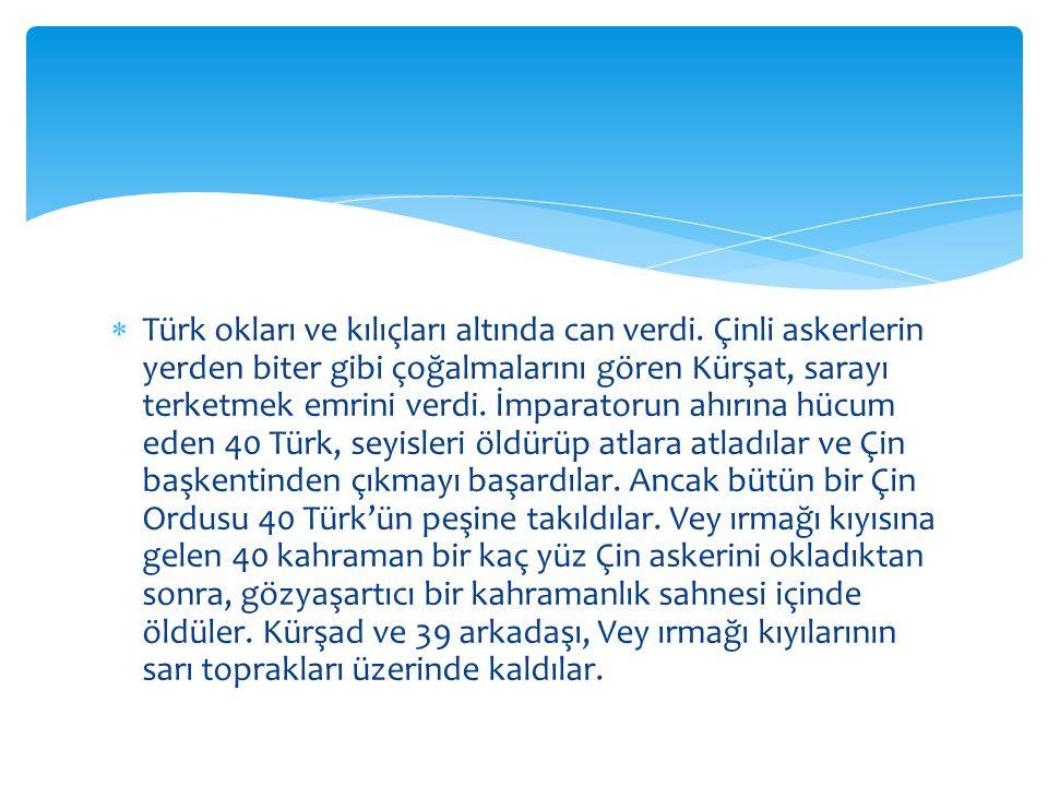  Türk okları ve kılıçları altında can verdi.