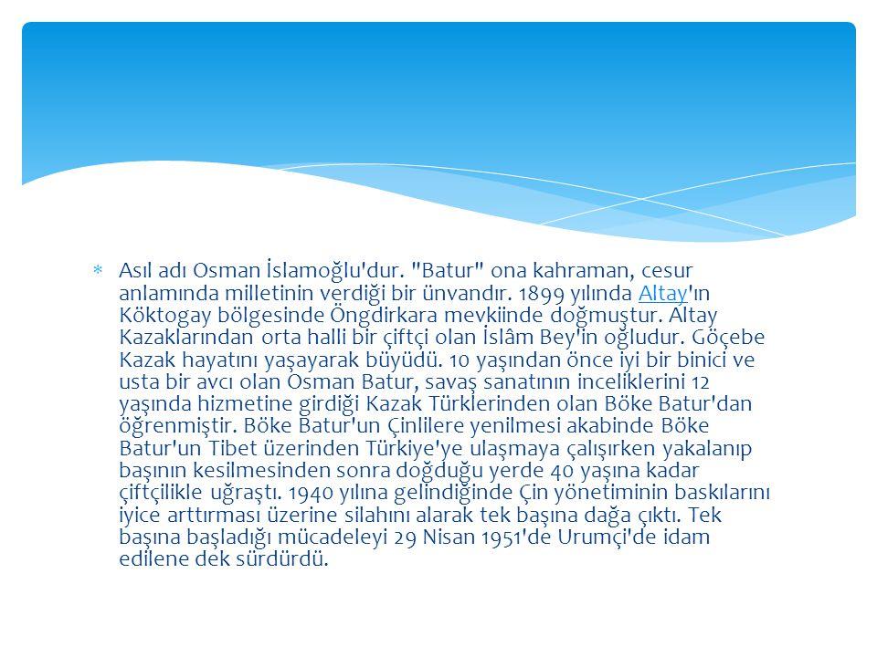  Asıl adı Osman İslamoğlu dur.
