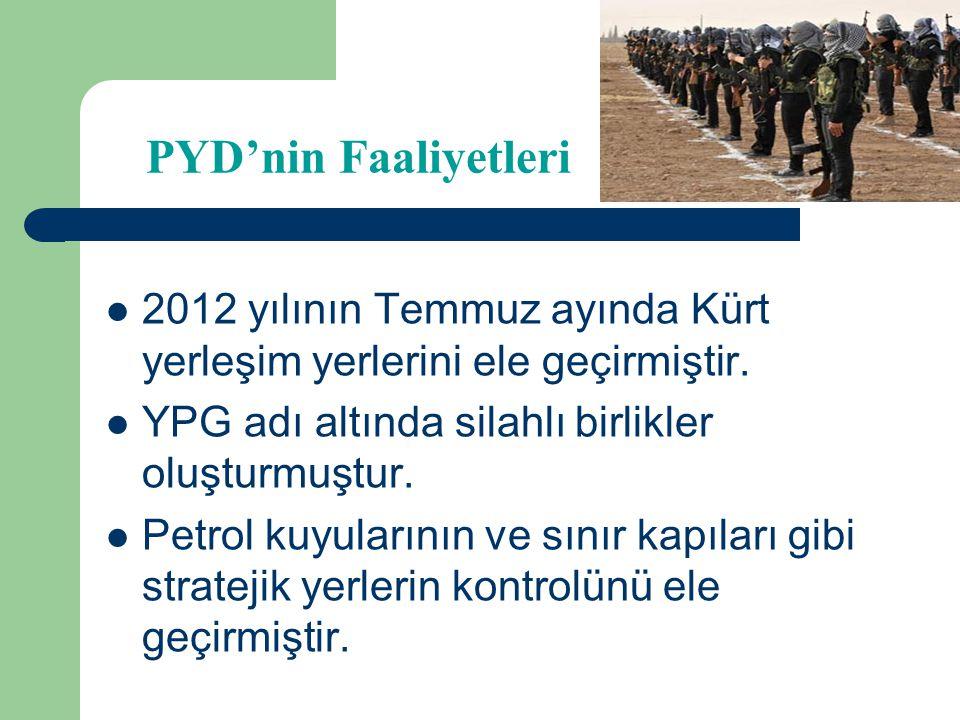 PYD ile KUK Arasındaki İlişkiler PYD, 15 partiden oluşan KUK'a katılmayı reddetmiştir. KUK, Suriyeli muhalifleri desteklemektedir. PYD, KUK üyesi part