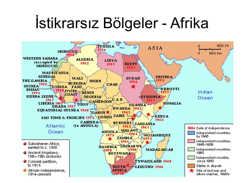 İstikrarsız Bölgeler - Afrika
