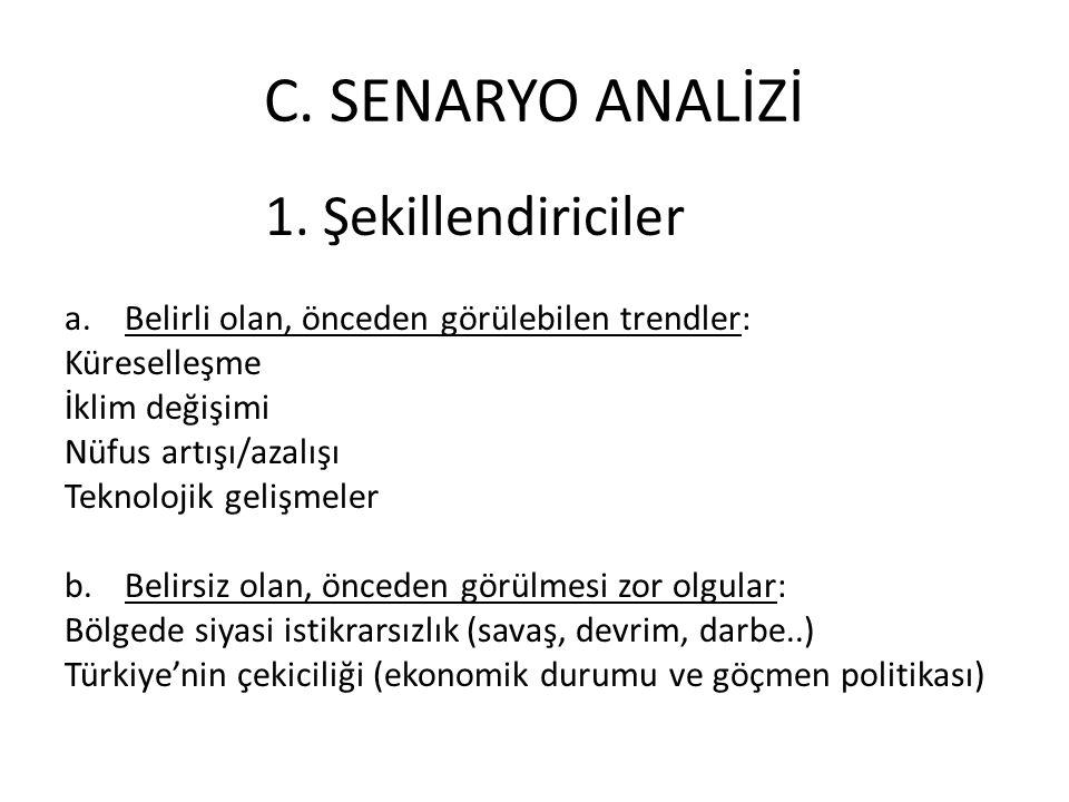 C.SENARYO ANALİZİ 1.
