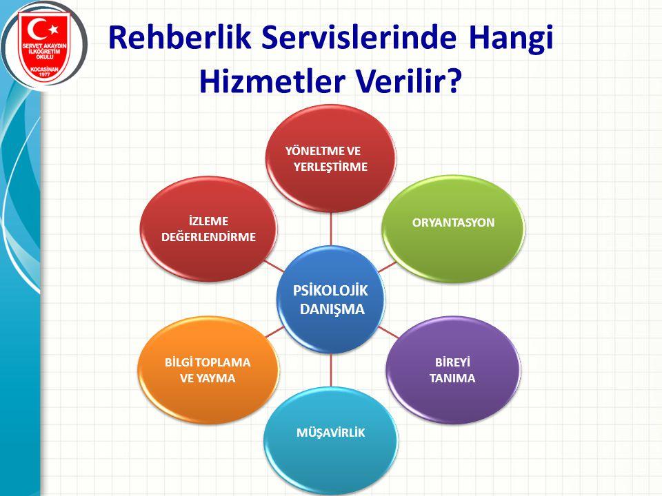Rehberlik Servislerinde Hangi Hizmetler Verilir?