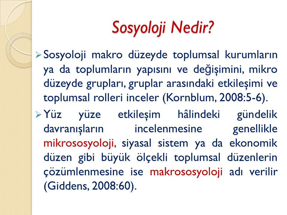 Sosyoloji Nedir.