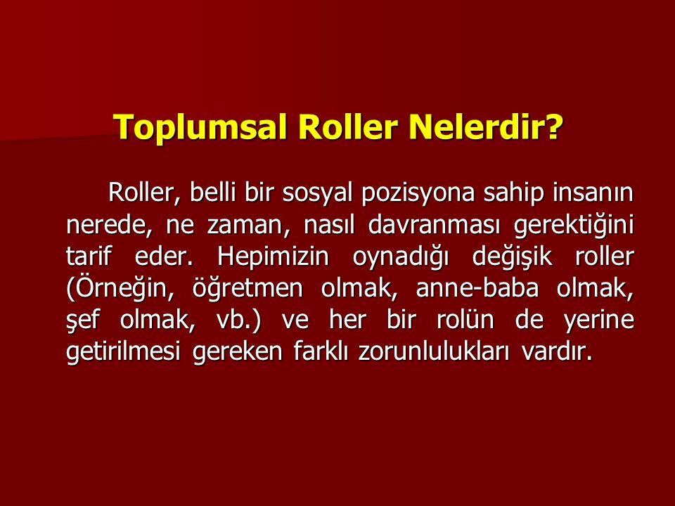 Toplumsal Roller Nelerdir.