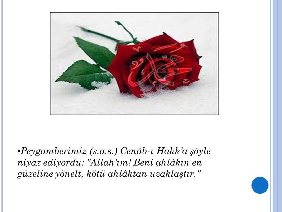 Peygamberimiz (s.a.s.) Cenâb-ı Hakk'a şöyle niyaz ediyordu: