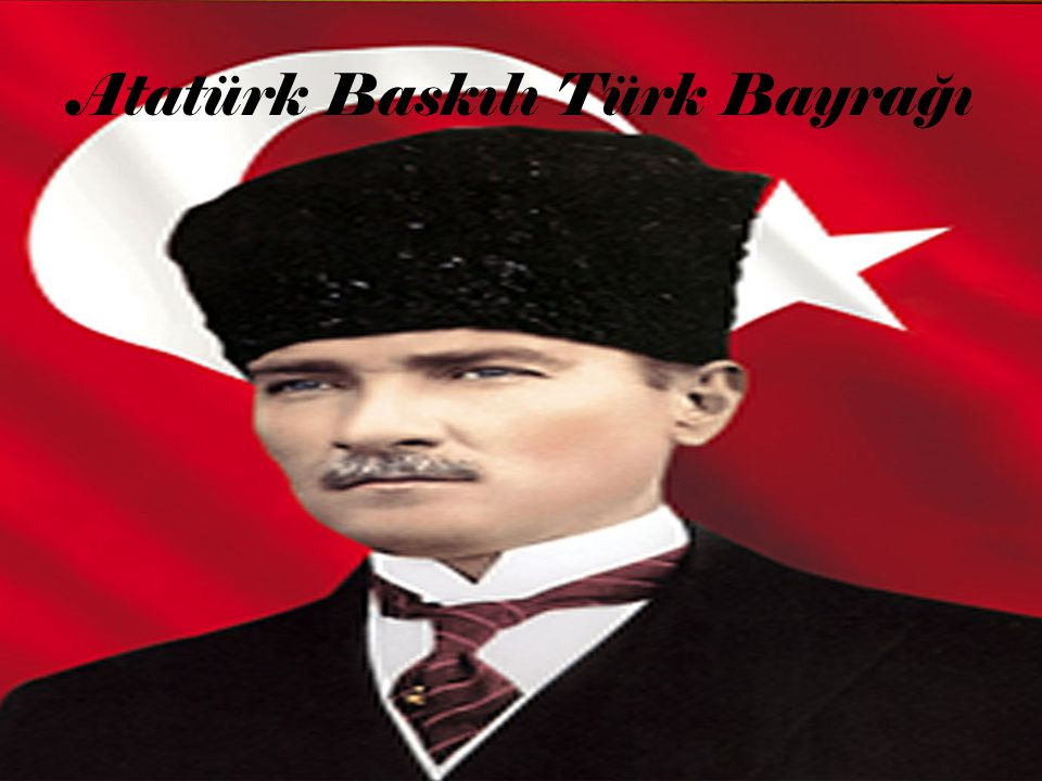 Atatürk Baskılı Türk Bayrağı