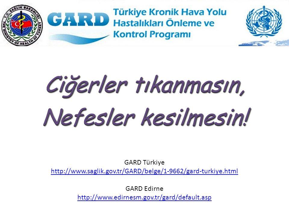 Ciğerler tıkanmasın, Nefesler kesilmesin! Ciğerler tıkanmasın, Nefesler kesilmesin! GARD Türkiye http://www.saglik.gov.tr/GARD/belge/1-9662/gard-turki