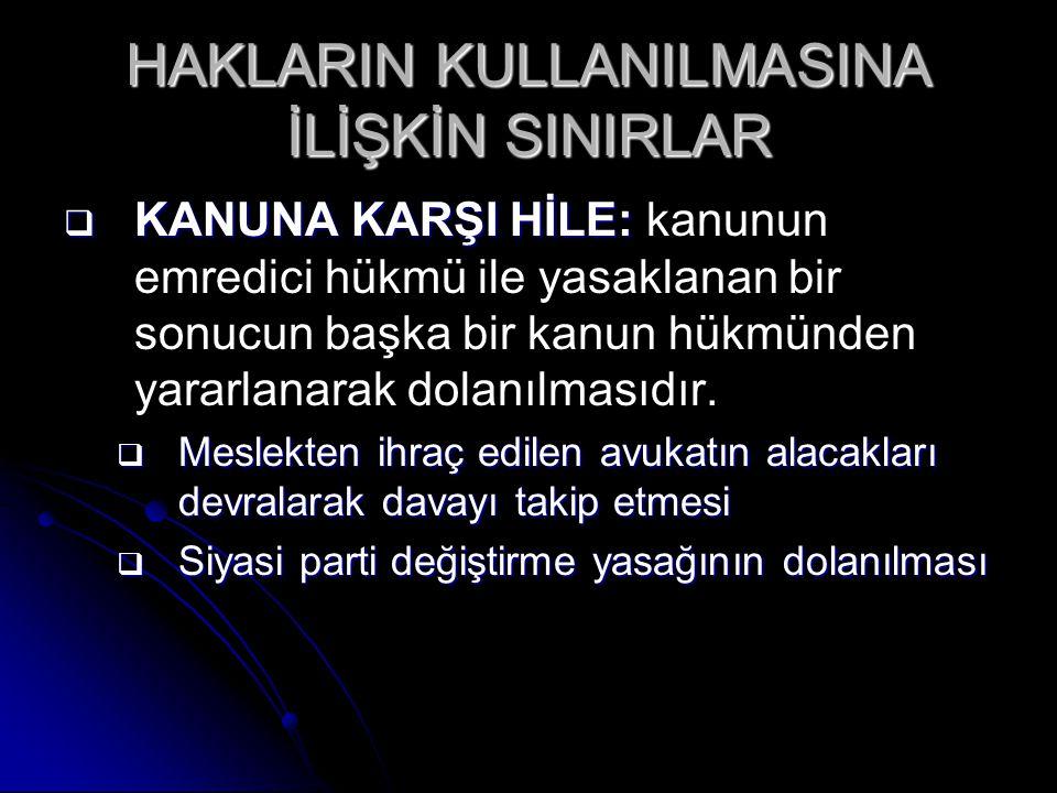 HAKLARIN KORUNMASI  HAK SAHİBİ TARAFINDAN KORUNMASI 1.