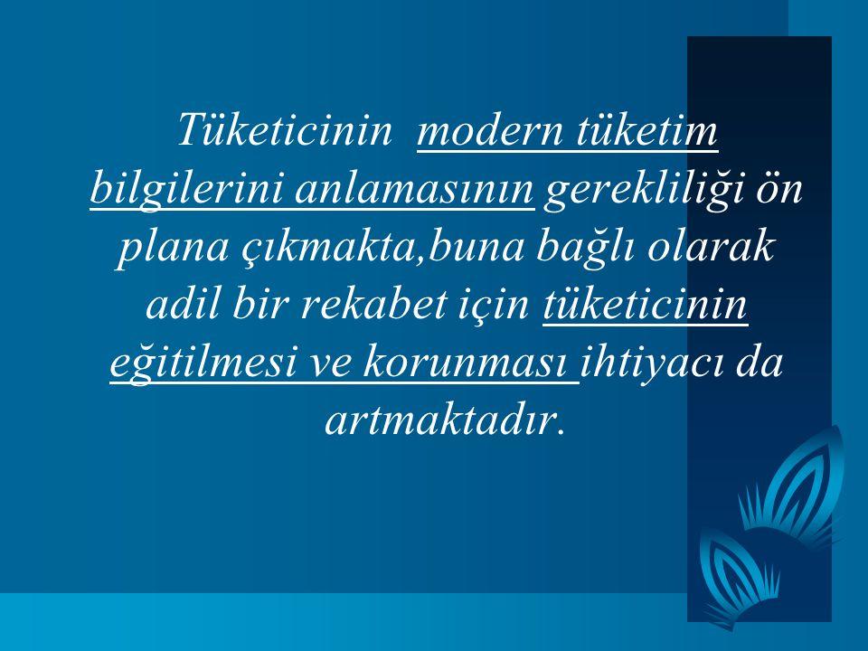 Tüketicinin korunma hakkı; bir insan hakkı