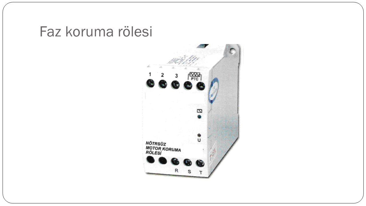 Aşırı ve düşük gerilim röleleri A ş ırı gerilim röleleri, üç fazlı ve tek fazlı sistemlerde yüksek gerilimden etkilenen elektronik kumanda devrelerinde, kontrol sistemlerinde, kompanzasyon panolarında kondansatör gruplarının korunmasında ve motorların korunmasında kullanılır.Dü ş ük gerilim röleleri de üç fazlı ve tek fazlı sistemlerde dü ş ük gerilimden zarargören elektronik kumanda, kontrol sistemlerinde, kompanzasyon panolarında ve motorlarınkorunmasında kullanılır.A ş ırı gerilim rölesi üzerindeki üst sınır ayar vidası ile kontrol edilmek istenilen gerilimbölgesi ayarlanır.