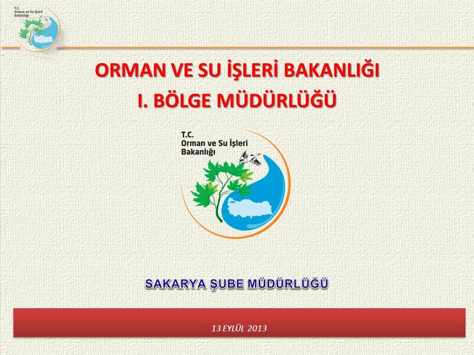 ORMAN VE SU İŞLERİ BAKANLIĞI I. BÖLGE MÜDÜRLÜĞÜ 13 EYLÜL 2013