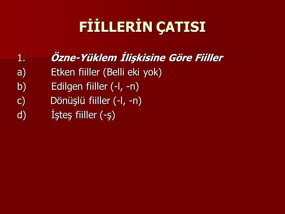 FİİLLERİN ÇATISI 1.
