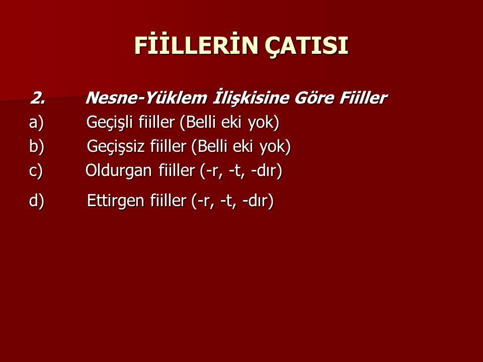 FİİLLERİN ÇATISI 2.