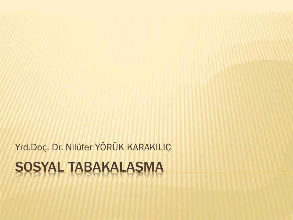 Yrd.Doç. Dr. Nilüfer YÖRÜK KARAKILIÇ