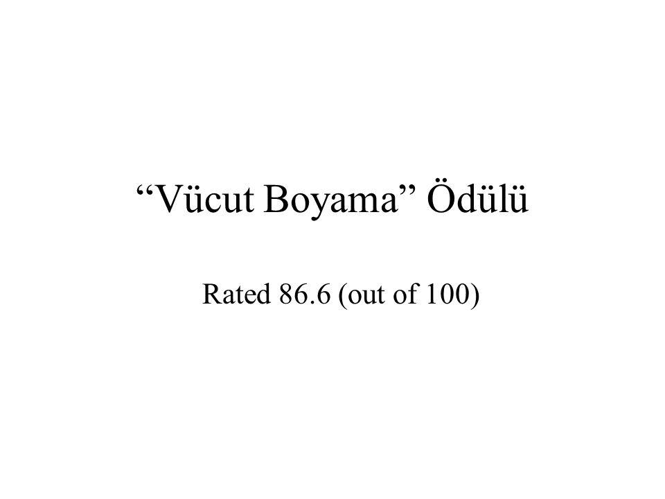 Vücut Boyama Ödülü Rated 86.6 (out of 100)