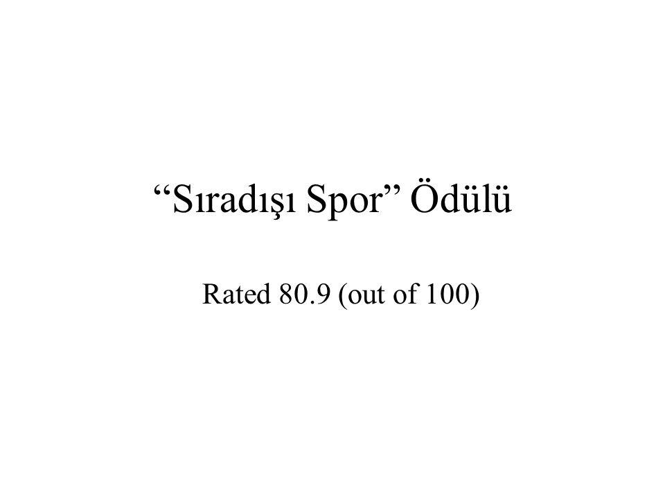 Sıradışı Spor Ödülü Rated 80.9 (out of 100)