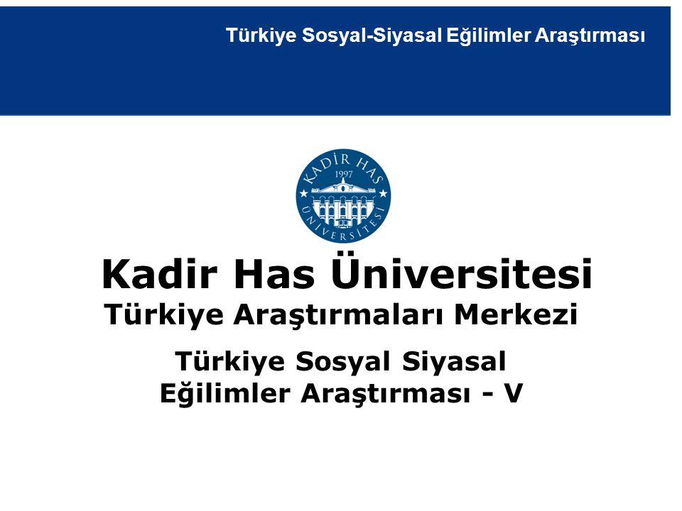 19 Şubat 2013 | İstanbul Kantitatif Araştırma Raporu Kadir Has Üniversitesi Türkiye Araştırmaları Merkezi Türkiye Sosyal Siyasal Eğilimler Araştırması