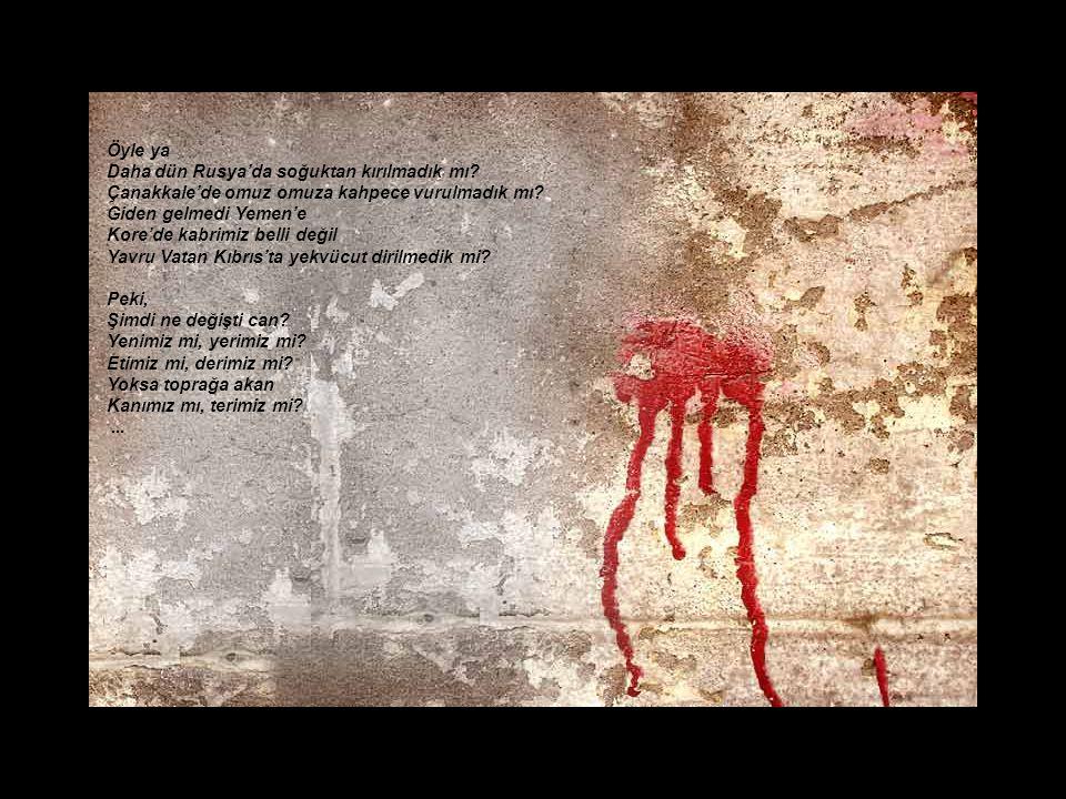 Sen anasın leey!.. Kürt kızı, Türkmen özü, Alevi yüzü… Sen babasın loo!.. Laz oğlu, Çerkez soylu, Afşar boylu… Kanmayasın ha yalanlara Sakın ola aldan
