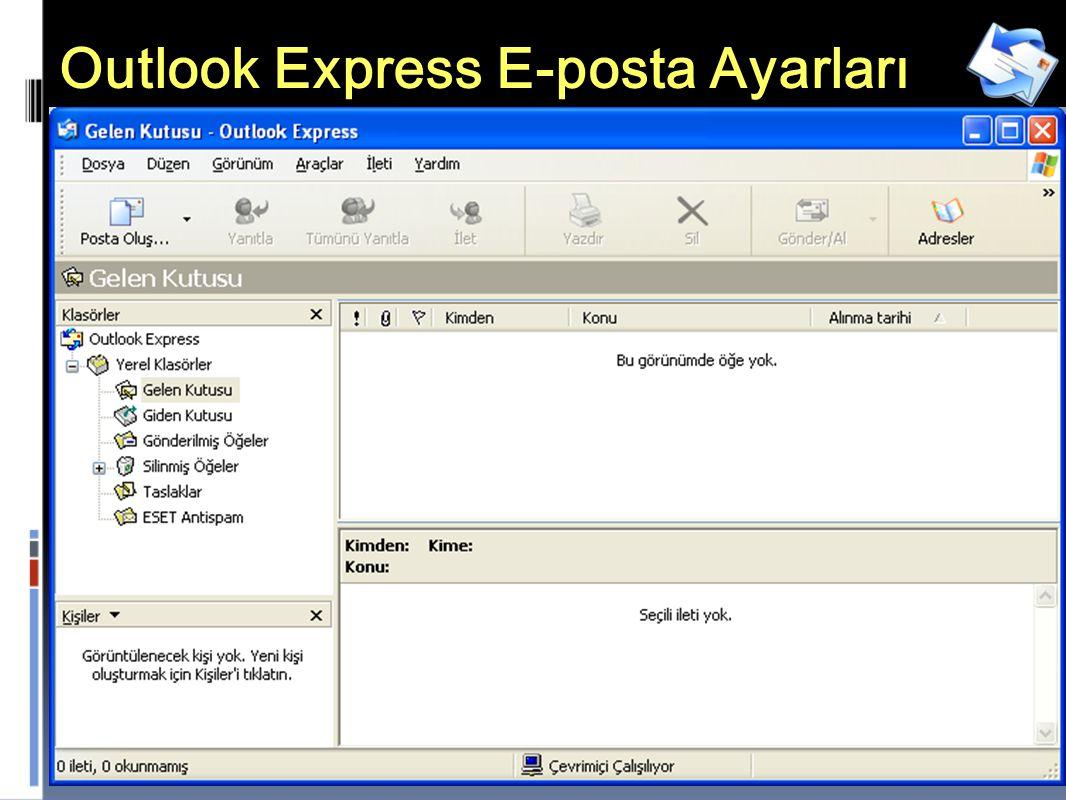 22 Outlook Express E-posta Ayarları