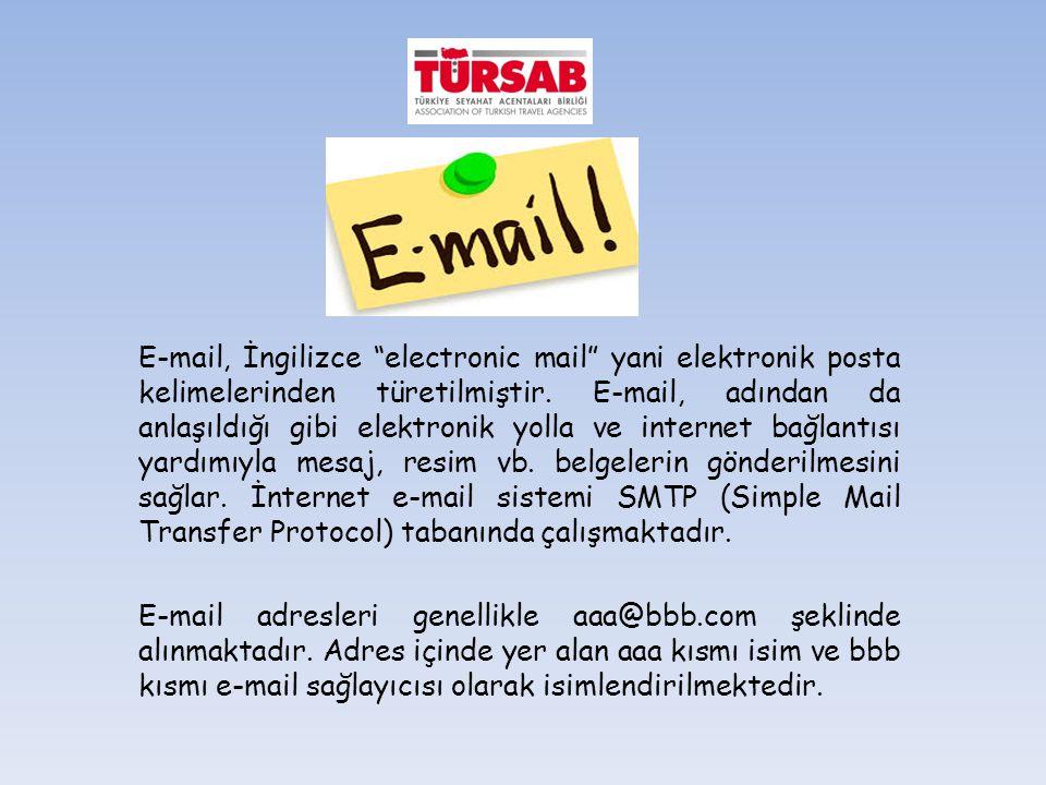 E-mail, İngilizce electronic mail yani elektronik posta kelimelerinden türetilmiştir.