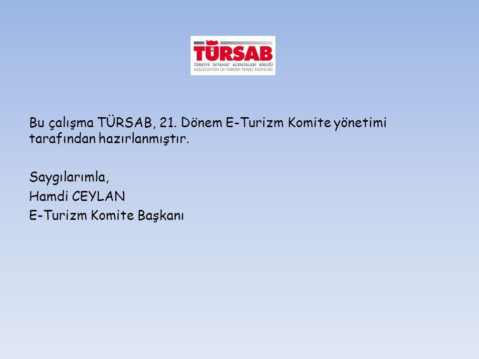 Bu çalışma TÜRSAB, 21. Dönem E-Turizm Komite yönetimi tarafından hazırlanmıştır.