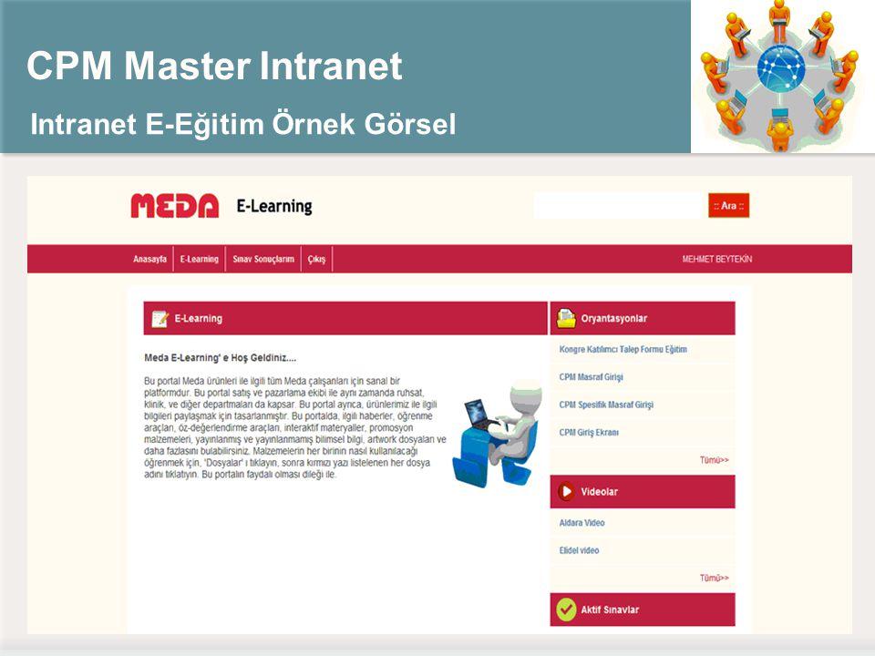 CPM Master Intranet Intranet E-Eğitim Örnek Görsel