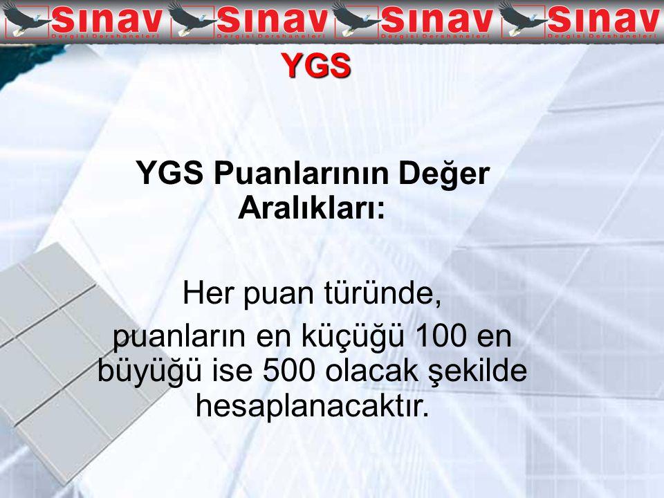 LYS (Lisans Yerleştirme Sınavı) YGS puanlarından en az biri 180 ve daha fazla olan adaylar isterlerse LYS' lere başvurabileceklerdir.