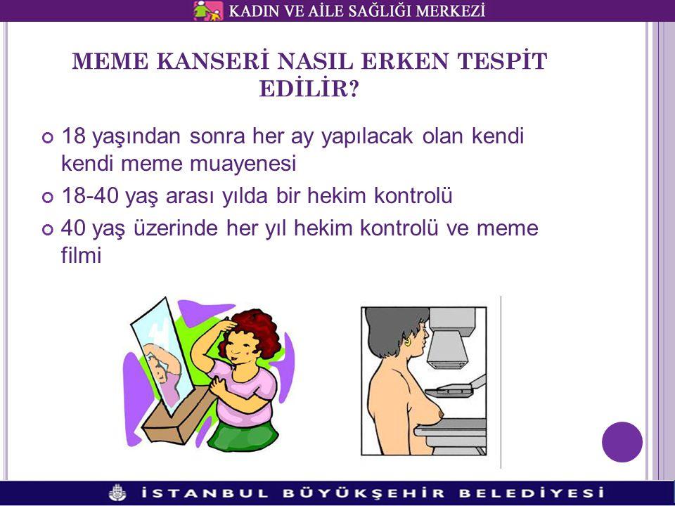 MEME KANSERİ NASIL ERKEN TESPİT EDİLİR.