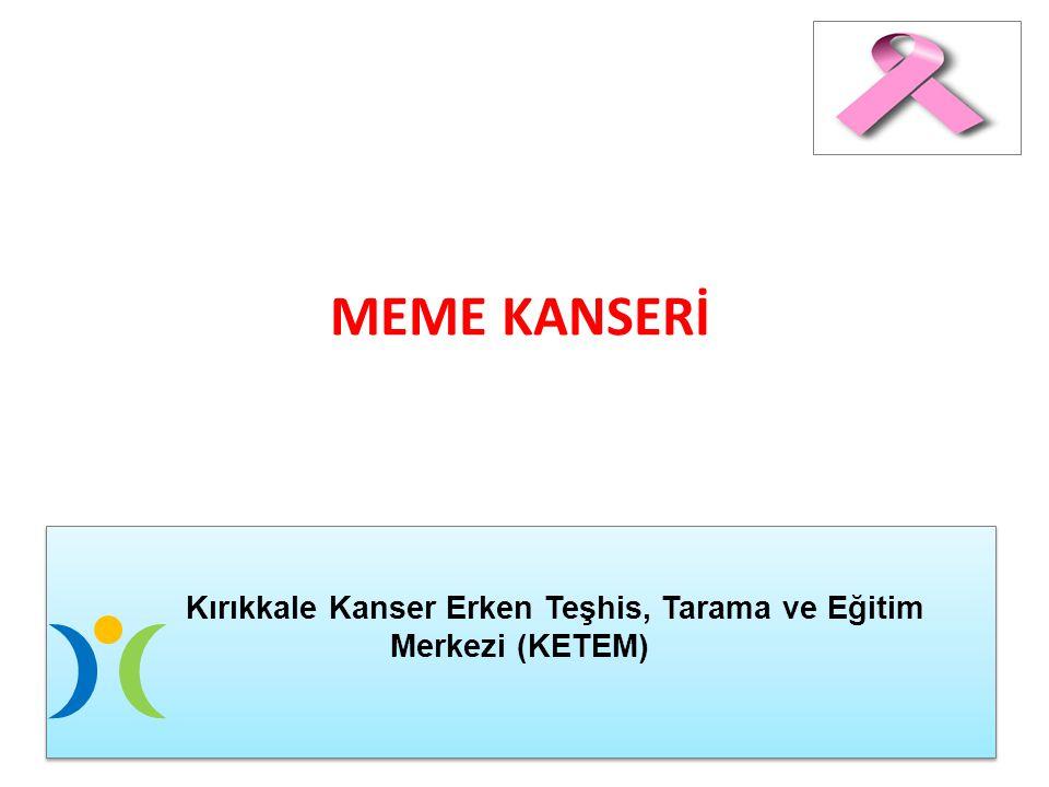 MEME KANSERİ Kırıkkale Kanser Erken Teşhis, Tarama ve Eğitim Merkezi (KETEM) Kırıkkale Kanser Erken Teşhis, Tarama ve Eğitim Merkezi (KETEM)