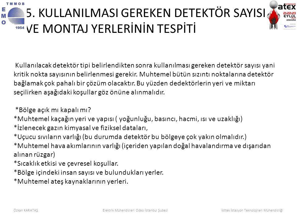 Kullanılacak detektör tipi belirlendikten sonra kullanılması gereken detektör sayısı yani kritik nokta sayısının belirlenmesi gerekir. Muhtemel bütün