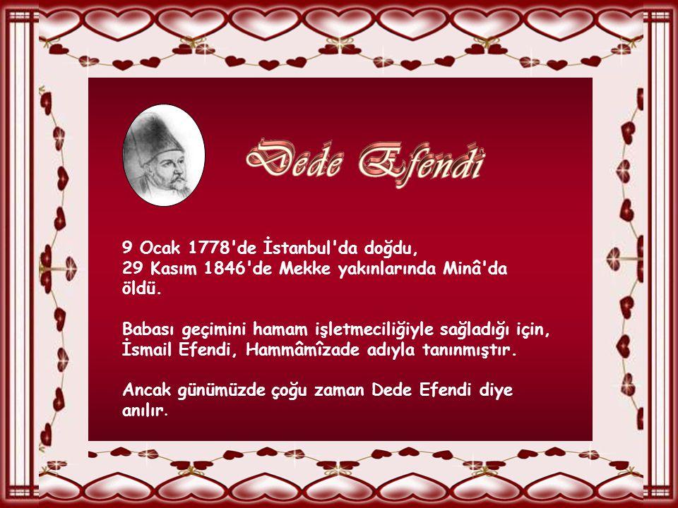 Hammâmî -zâde İsmail Klâsik Türk Mûsıkîsi'nin son büyük bestekârı