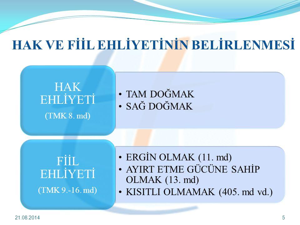 21.08.20146 AYIRT ETME GÜCÜNÜ ENGELLEYEN HALLER TMK 13.